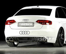 AUDI RINGS A4 A6 A8 RS3 RS4 Q5 S- Line Racing Decal sticker emblem logo SILVER