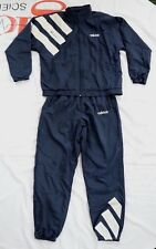 Vintage Adidas Full Zip Jump Suit Navy Size Large With Packable Hood