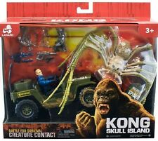King Kong Skull Island Spider with Jeep & Action Figure Tom Hiddleston NEW Toy
