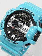 *NEW* CASIO MENS G SHOCK METALLIC BLUE BLUETOOTH MIX MUSIC WATCH GBA-400-2CDR