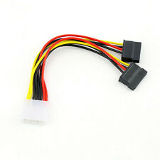 4 Pin IDE Male Molex to Dual SATA Y Splitter 2 Ports Female Power Adapter Cable