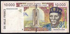 West African States 10000 Francs 1998 P-114  VF-