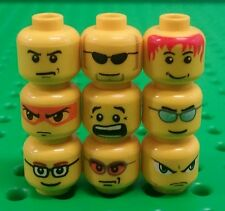 *NEW* Lego Bulk Heads Faces Mini Figures Fig Men People Spares Pack - 9 pcs