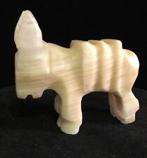 Vintage Mexican Marbled  Carved Donkey Burro Figurine paper weight a1