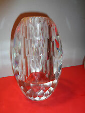 "Rare Rosenthal Studio Line Surface Oval  Crystal Vase (8 by 4.5 by 4.5"")(8.75 LB"