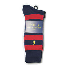 New Men's Polo Ralph Lauren Stripe Dress Socks 2Pair