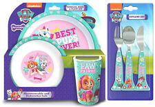 Paw Patrol Girls 6 Piece Tableware Set - Dinner Set & Cutlery *NEW