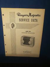 ROGERS MAJESTIC R830 RADIO SERVICE MANUAL ORIGINAL FACTORY ISSUE
