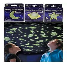 NEW Glow In The Dark Stars  Planets and Moon - 3 packs / 72 pieces