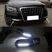 2x White 1:1 Replacement LED DRL Daytime Running Lights  For Audi Q5 2009-2012