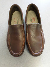 SAS brown leather loafers. Women's 10M