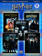 Harry Potter Solos Movies 1-5 Learn to Play Violin Piano Music Book & CD FILM