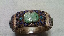 Antique Chinese silver and Jade bracelet