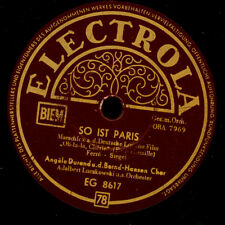 ANGELE DURAND  So ist Paris / Adieu, Monsieur    Schellackplatte  78rpm    S8400