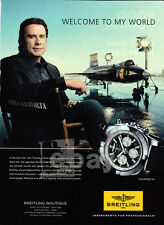John Travolta 1-page clipping Nov 2014 ad for Breitling Chronomat