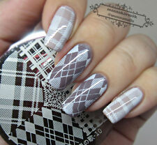 BORN PRETTY Nail Art Stamping Stamp Plate Diamond Shape Image Template #10