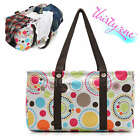 Thirty One Large Utility TOTE  Capacity Laundry Market Picnic Bag Pouch CIRCLE