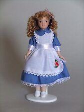 """1/12TH Casa de Muñecas """"Victoriano"""" chica en azul """"Alice"""" Vestido"""