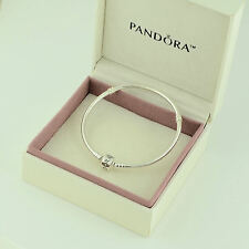 Authentic Pandora Silver Clasp Bracelet 21cm - 590702HV-21 - Box Included