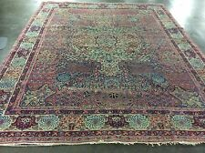 """ANTIQUE KERMAN LAVAR PERSIAN RUG HAND KNOTTED 11' X 8' 8"""""""