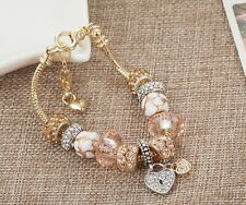 BELLE Rose Gold charm braccialetto & Rose Gold Charms. FREE Pan regalo se oltre £ 15