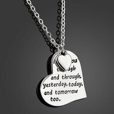 Stunning Family Members Proverbs Love Letter Necklace Simple Pendant Lover Gift