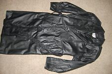 LEATHER TRENCH COAT Black Size M Men by Pelle Studio with Thinsulate Insulation