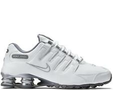 NIKE WOMENS SHOX NZ EU SHOES SIZE 7.5 white silver grey 488312 113