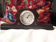 VINTAGE DECO ? LOVELY NAPOLEON SHAPE MANTLE CLOCK RICH DEEP WOOD NOT WORKING TLC