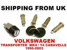 4x Serratura Cilindro + INTERRUTTORE ACCENSIONE Lock Set VW Transporter mk4 t4 CARAVELLE
