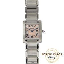 Cartier Francaise SM Womens pink shell dials Edition SS quartz W51028Q3
