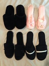 LOT OF 4 Vintage PAIRS Ladies SLIPPERS , ALL NEW!! 6.5-7.5