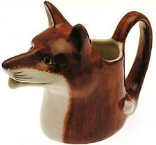 Fox Milk Jug Quail Pottery Collectable Hunting gift