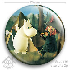 "THE MOOMINS -  RETRO TV Badge BBC Children's TV -  25mm 1"" Badge"