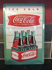 LARGE VINTAGE STYLE COCA-COLA BOTTLE ADVERTISING SIGN. CHABBY CHIC LOOK.