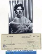 Ava Gardner vintage signed Bank Cheque / Check AFTAL