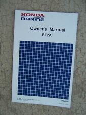 1990 Honda Marine BF2A Outboard Motor Owner Manual ONE OF MANY MANUALS!!   S