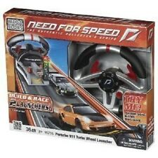 Mega Bloks Need For Speed Porsche Buildable Turbo Wheel Launcher New