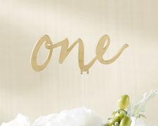1-6 Gold Acrylic Calligraphy Wedding Table Numbers
