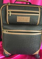 NWT *Tommy Hilfiger* Spinner Heavy Duty Lined Luggage Upright Roller *Black HuGe