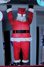 6.5 FT 6 1/2 FT AIRBLOWN INFLATABLE HANGING SANTA LIGHTS UP LIT CHRISTMAS YARD