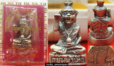 Mini Statue Phra LERSI Head Tiger LP KEE Thai Buddha Amulet lucky Rich NO.2