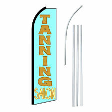 TANNING SALON - Advertising Sign Swooper Feather Banner Flag & Pole Only