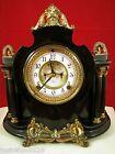 Antique Ansonia Cast Metal Mantel Clock.