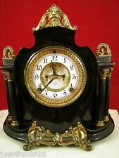 Antique Ansonia Cast Metal Mantel Clock.