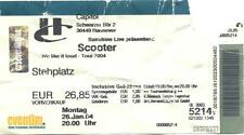 Scooter - We like it loud Tour 2004 Konzert-Ticket vom 26.01.2004 Hannover #8333