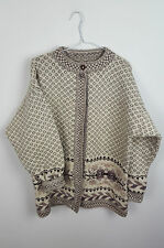 VTG URBAN RENEWAL CHUNKY NORWEGIAN CLASP OVERSIZED CARDIGAN SWEATER JUMPER 12/14