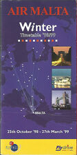 Air Malta system timetable 10/25/98 [6102] Buy 2 Get 1 Free