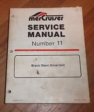 MERCRUISER SERVICE REPAIR SHOP MANUAL NUMBER 11 BRAVO STERN DRIVE UNIT