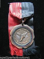 Antique 1910 Washington College Games Sports Medallion Medal 'Winged Foot'